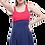 Thumbnail: Parçalı Biyeli Düz Elbise Battal Mayo