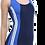 Thumbnail: Uzun Şortlu Modelli Şeritli Yüzücü Mayo