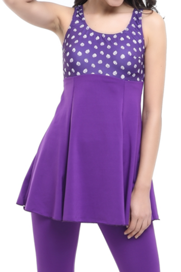 Desenli Garnili Taytlı Elbise Mayo