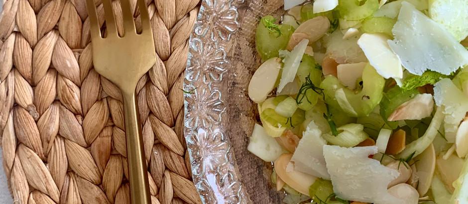 Fennel, celery & pecorino salad