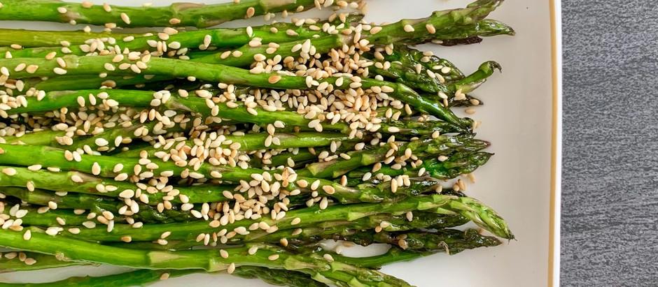 Ginger-Sesame Asparagus