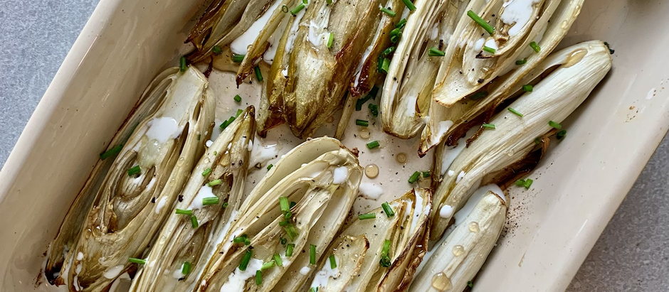 Roasted endives with cream