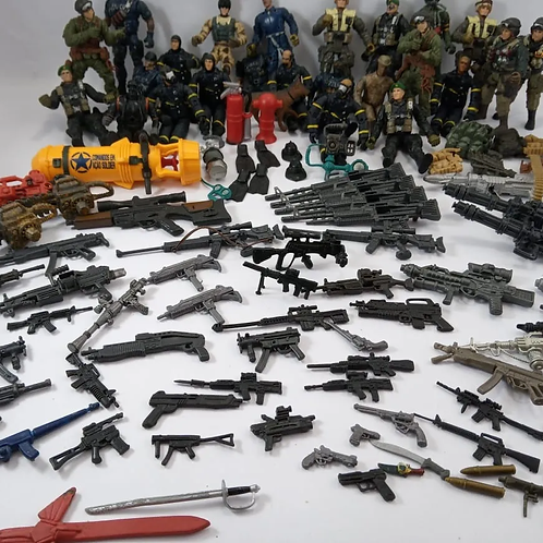 Lote de Soldados E Arminhas Comandos Em Ação Soldier Com 120 Pçs