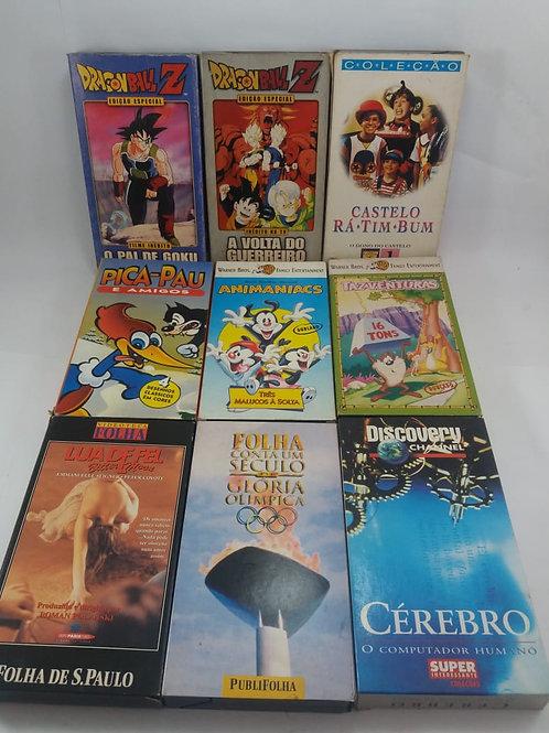 Lote Fitas Filmes E Desenhos VHS para Vídeo Cassete