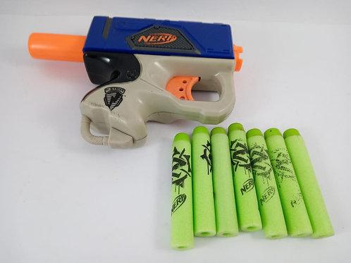 Nerf N-strike Attack Unit Pistola Lançador Azul