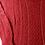 Thumbnail: Blusa De Lã De Tricô Trabalhado Vermelho Tam. G