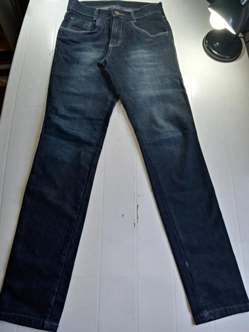 Calça Jeans Grosso Com Stretch Azul Masculino Tam 36