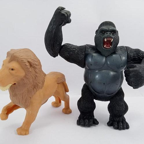 Bonecos King Kong E Mufasa Rei Leão Articulável