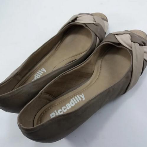 Sapato Anabela Picadilly Tam. 37 Creme Feminino
