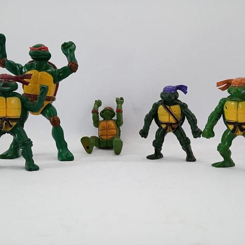 Tartaruga Ninja Kit Com 5 Bonecos