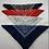 Thumbnail: Kit com 4 Bandanas Lenço Azul, Vermelho, Branco, Preto Algodão
