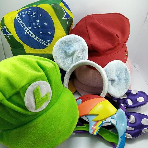 Kit 7 Peças Chapéu, Boinas E Arquinhos Para Festa