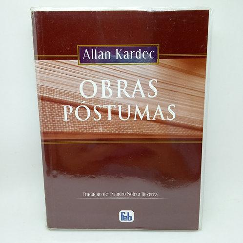 Livro Obras Póstumas Allan Kardek Usado