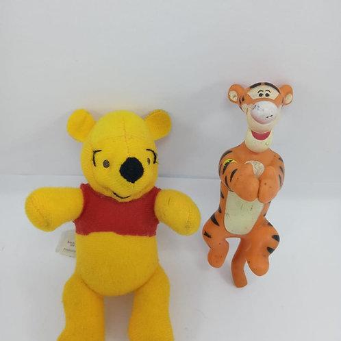 Miniaturas Ursinho Pooh Mcdonalds E Tigrão Agarradinhos