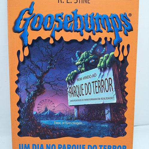 Livro Da Coleção Goosebumps 06 - Um Dia No Parque Do Terror
