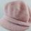 Thumbnail: Boina Francesa Lã Felpuda Rosa Com Aba Adulto