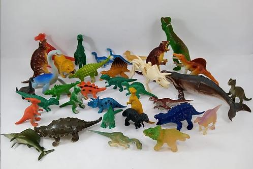 Miniaturas De 36 Dinossauros Animais Pré-historicos