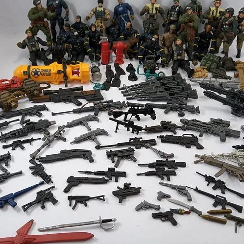 Lote Soldados E Arminhas Comandos Em Ação Soldier Com 120 Pçs