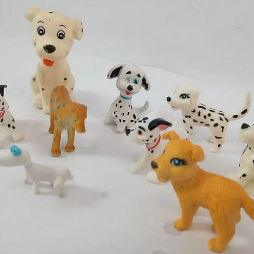 Miniaturas De 10 Cachorros E Dalmátas