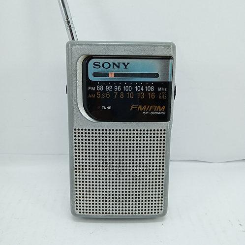 Radinho Sony de Mão, de Bolso AM/FM