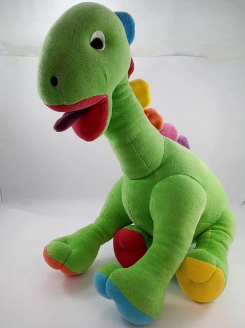 Dinossauro De Pelúcia Verde Tam 59cm
