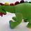 Thumbnail: Dinossauro De Pelúcia Verde Tam 59cm