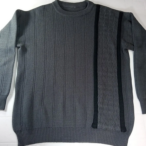 Blusa De Lã Tricô Cinza Unissex Tamanho P
