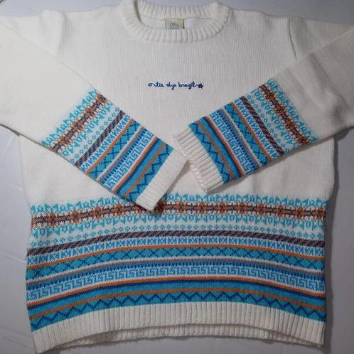 Blusa De Lã Infantil Tie Dye Brazil Tam. 10-12