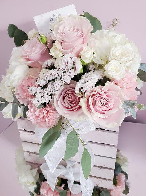 D Flower Wood Box