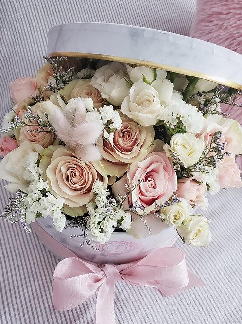 D Marble Flower Box ( medium size)