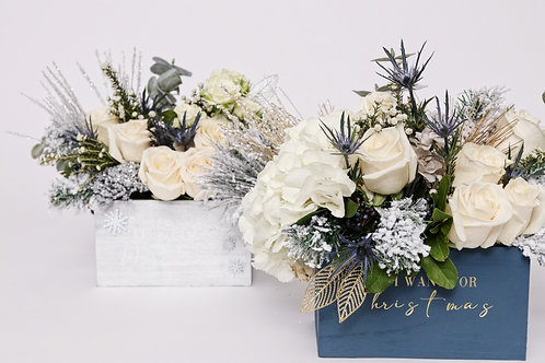 # 7 Christmas Say My Name Flower Box ( standard size)