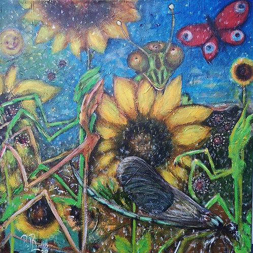 De~bug 60X60 cm Acrylic on canvas