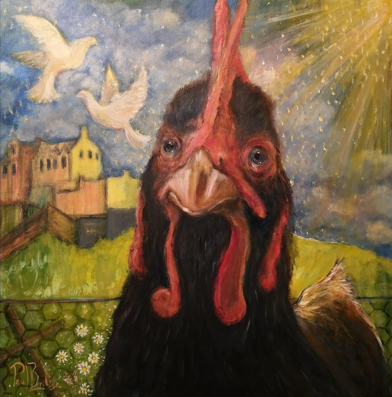 'Free Bird' 60X60cm Acrylic.
