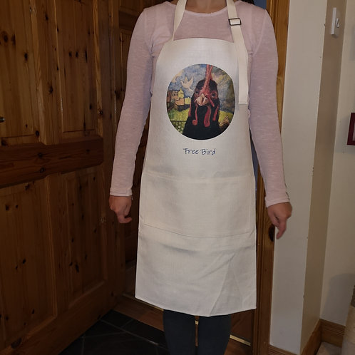Apron with image from original painting 'Free Bird'