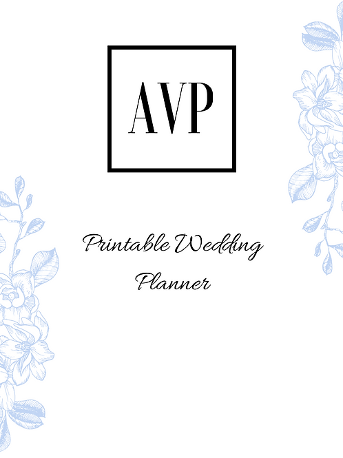 Minimal Printable 27 Page Wedding Planner, DIY Printable Wedding Planner