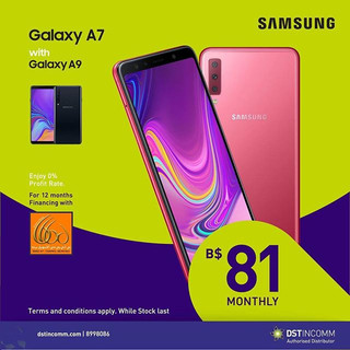 Buy the Galaxy A9 and get the A7 with Tr