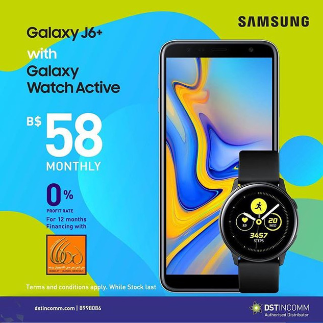 Pair up your Galaxy J6+ 64GB with the Sa