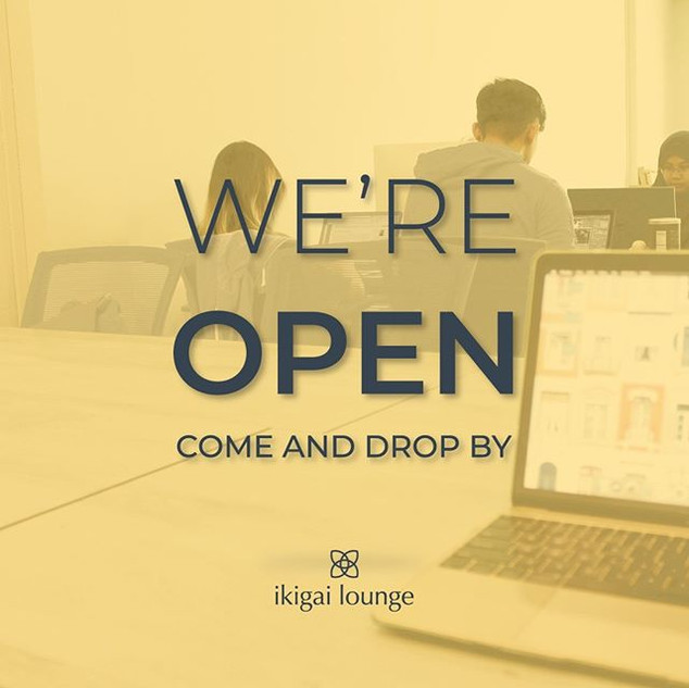 Hey guys! We're officially open now! _Co