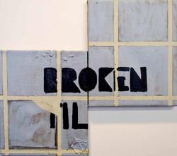 Broken Tiles.Mixed Media on Canvas.50cmx45cm.2011