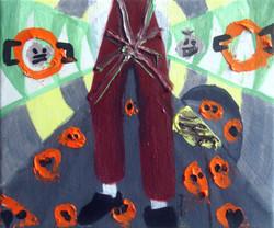 Two Legs.Oil on Canvas.30cmx25cm.2008