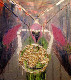Crowning.Mixed Media on Canvas.85cmx95xcm.2011