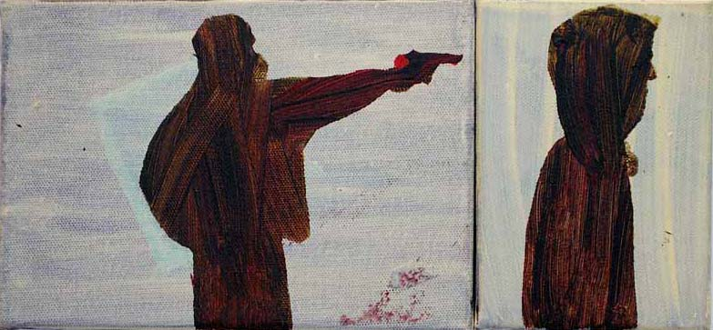 Shotgun.Acrylic on Canvas.15cmx30cm.2011