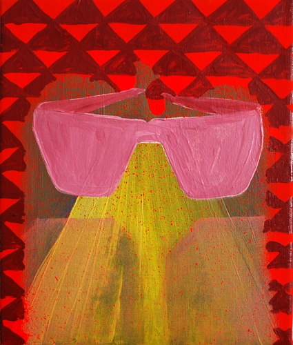 Glasses.Oil on Canvas.25cmx30cm.2010