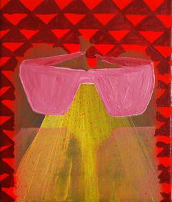 Glasses.Oil on Canvas.25cmx30cm.2010