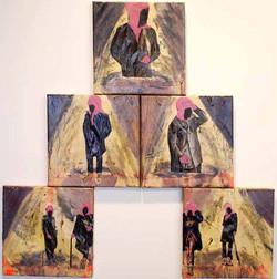 Hierarchy.Mixed Media on Canvas.75cmx75cm.2011
