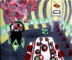 FoodHall.Oil on Canvas.30cmx25cm.2008