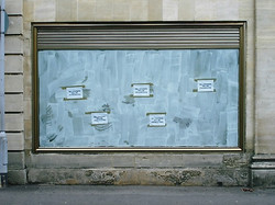 Bill Stickers Will Be Prosecuted. Site Specific installation. Stroud House Gallery.2006