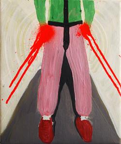 Two Legs..Oil on Canvas.25cmx30cm.2010