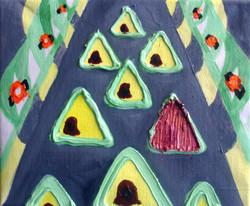 Campsite.Oil on Canvas.30cmx25cm.2008