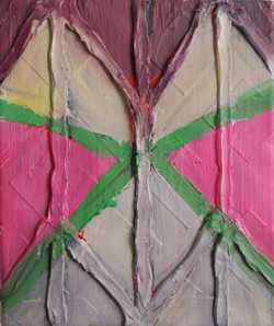 Wallpaper.Mixed Media on Canvas.45cmx50cm.2010